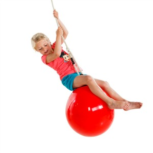Red Swing Ball for a Climbing Frame