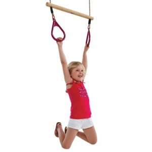 Red Handle Ring Trapeze for climbing frame